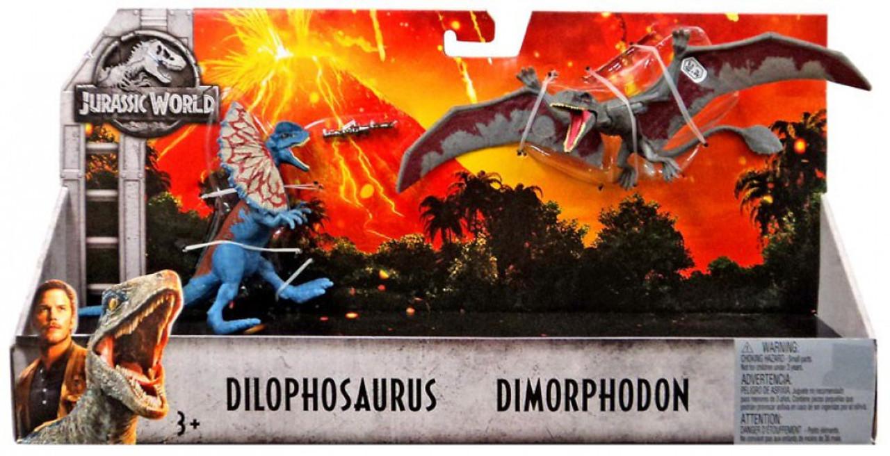 Jurassic World Fallen Kingdom Dilophosaurus & Dimorphodon Action Figure