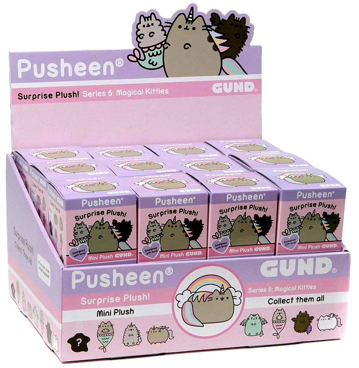 Magical Kitties 1 Random Box GUND Pusheen Surprise Plush Blind Box Series 6
