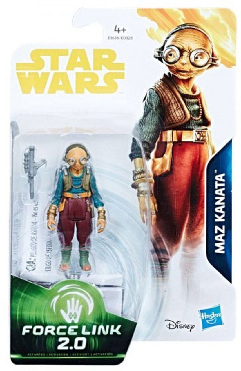 Disney Hasbro Star Wars The Last Jedi Solo Force Link 2.0 MAZ Kanata 3.75