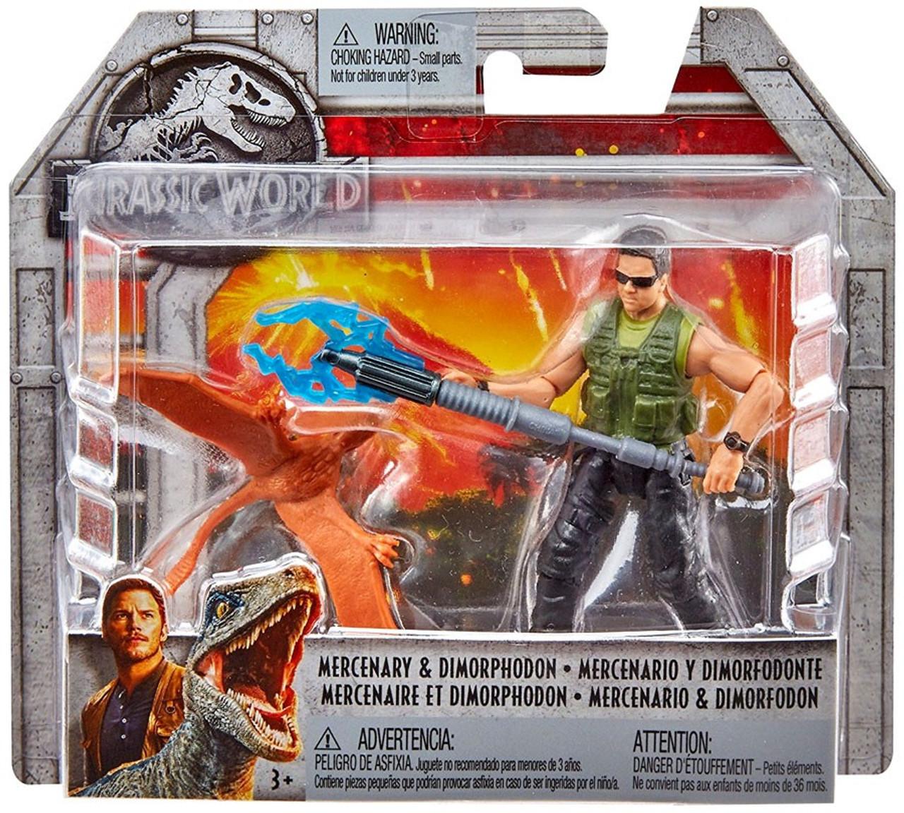 Mercenary /& Dimorphodon Fallen Kingdom Basic Figure Jurassic World