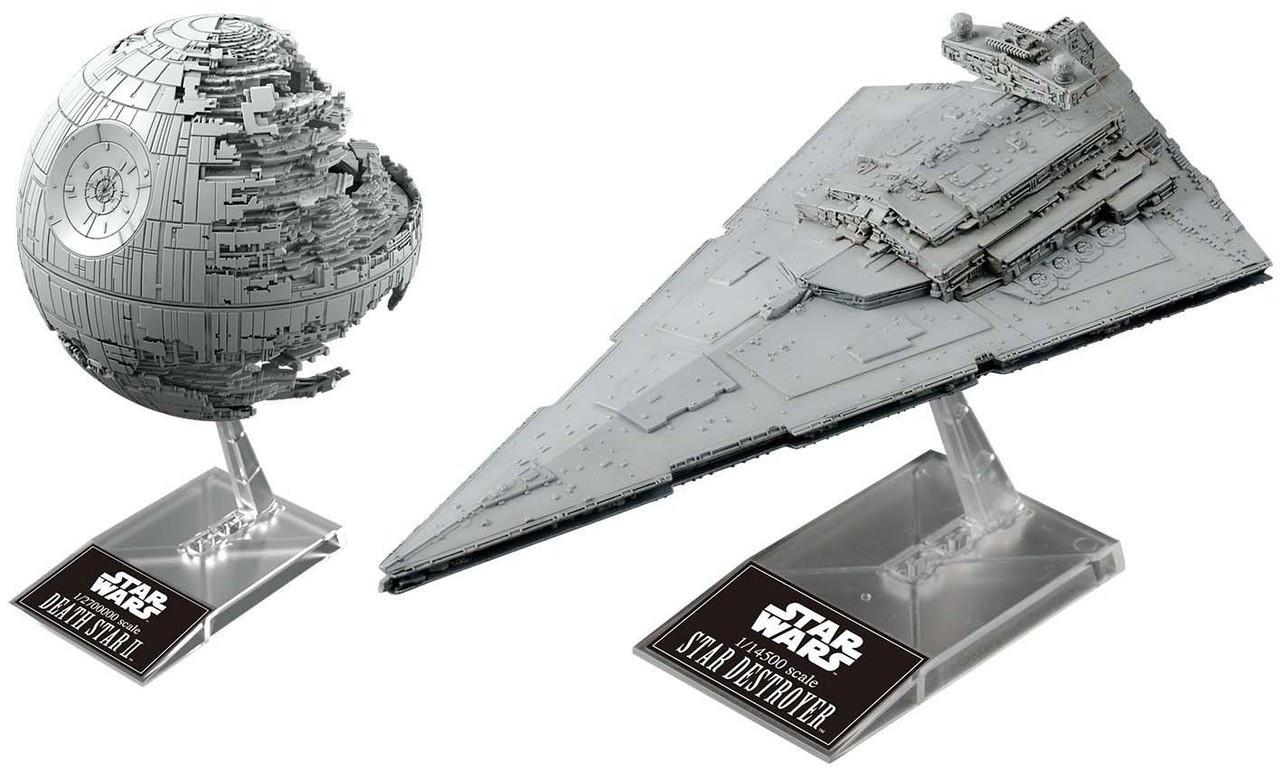 The Death Star Ii Roblox Star Wars Death Star Ii Star Destroyer Plastic Model Kit Bandai Hobby Toywiz