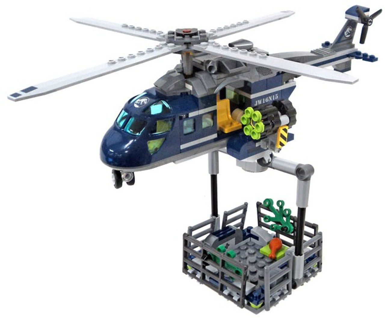 LEGO Jurassic World Fallen Kingdom Helicopter with Trap/Cage [Loose]