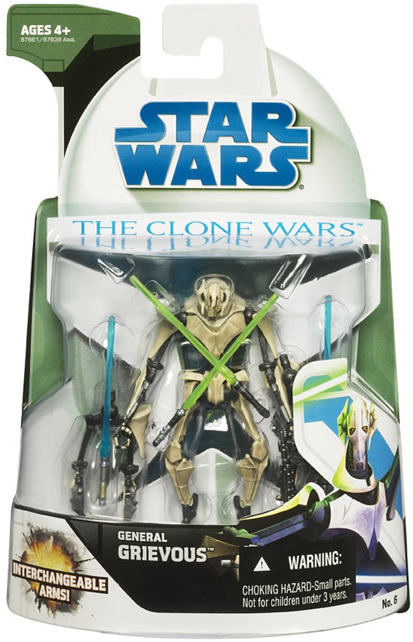 Star Wars The Clone Wars 2008 General Grievous 3 75 Action Figure 6 Hasbro Toys Toywiz