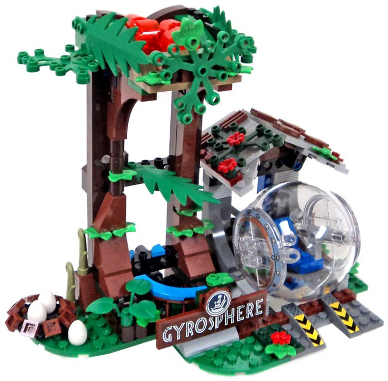 Lego Unveils The Complete Jurassic World Fallen Kingdom: LEGO Jurassic World Fallen Kingdom Overgrown Gyrosphere