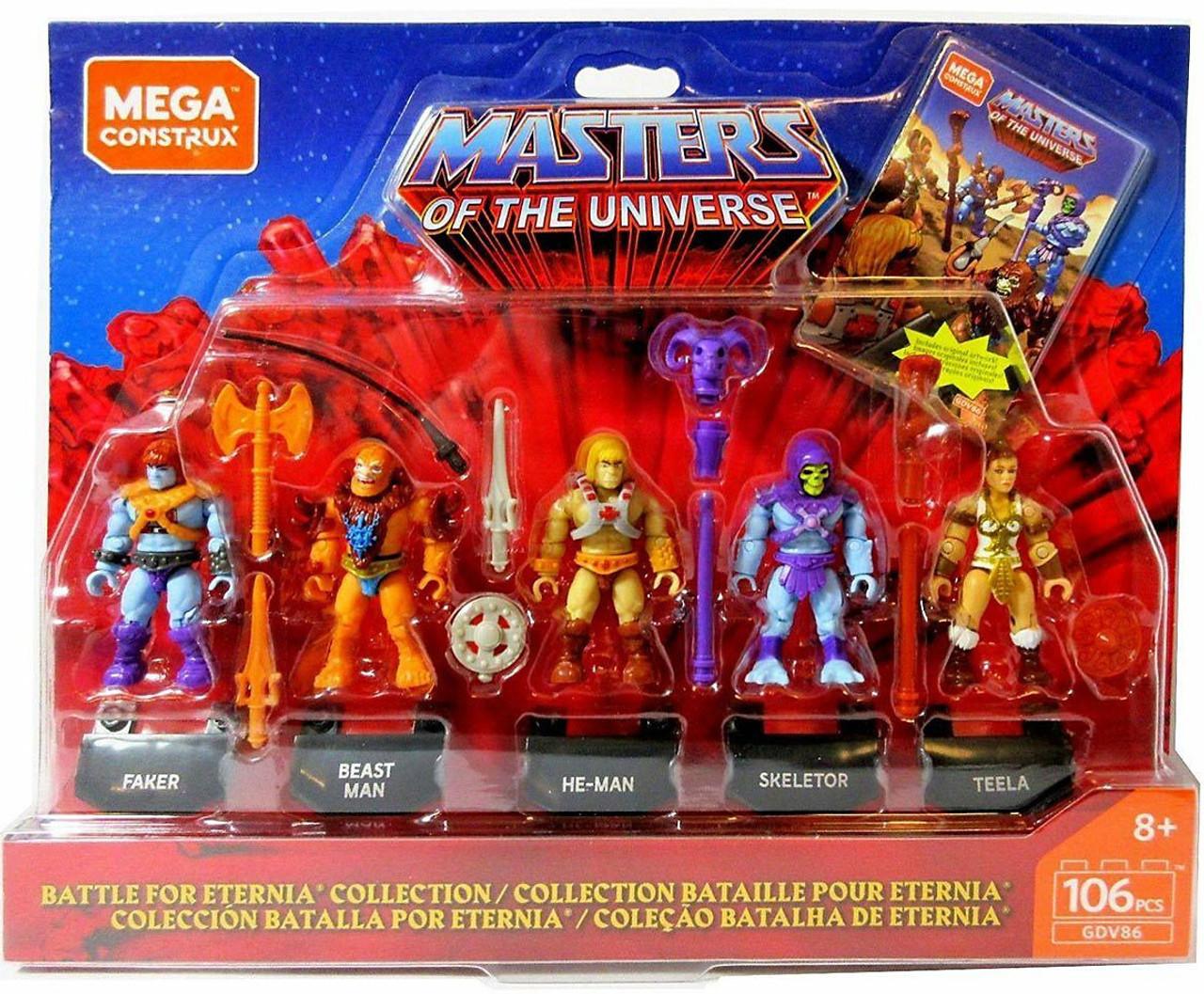 2 Masters of the Universe Beast Man Mega Construx Figure 22 pcs