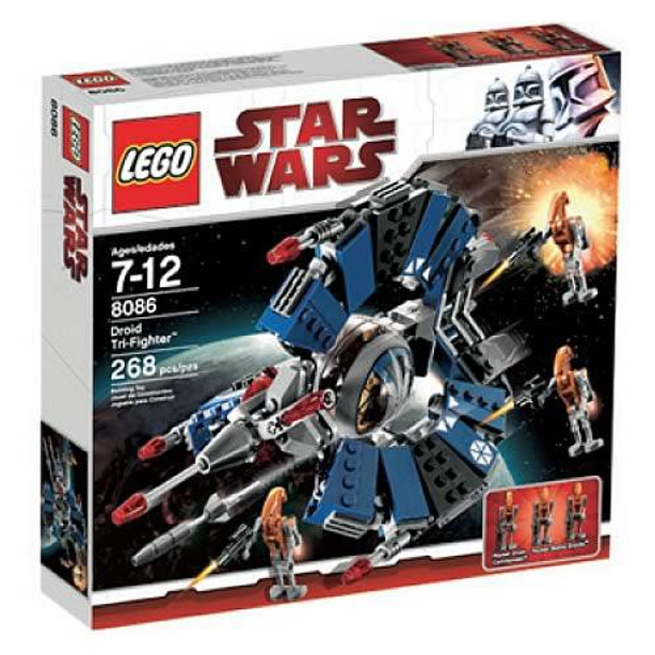 Lego Star Wars The Clone Wars Droid Tri Fighter Set 8086 Damaged Package Toywiz