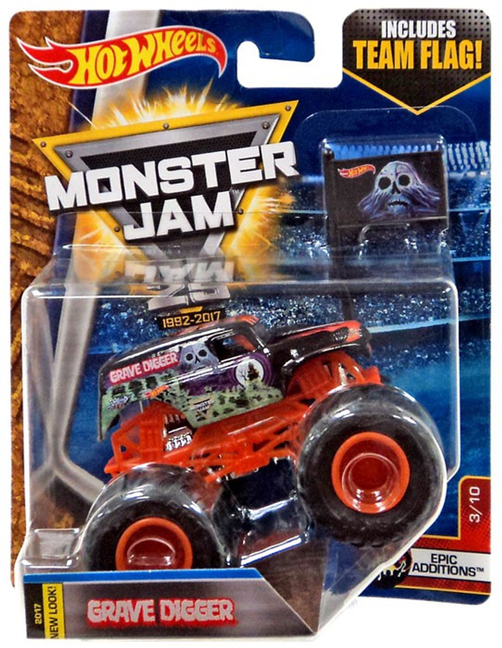 Hot Wheels Monster Jam Grave Digger 164 Die-Cast Car 310 Epic