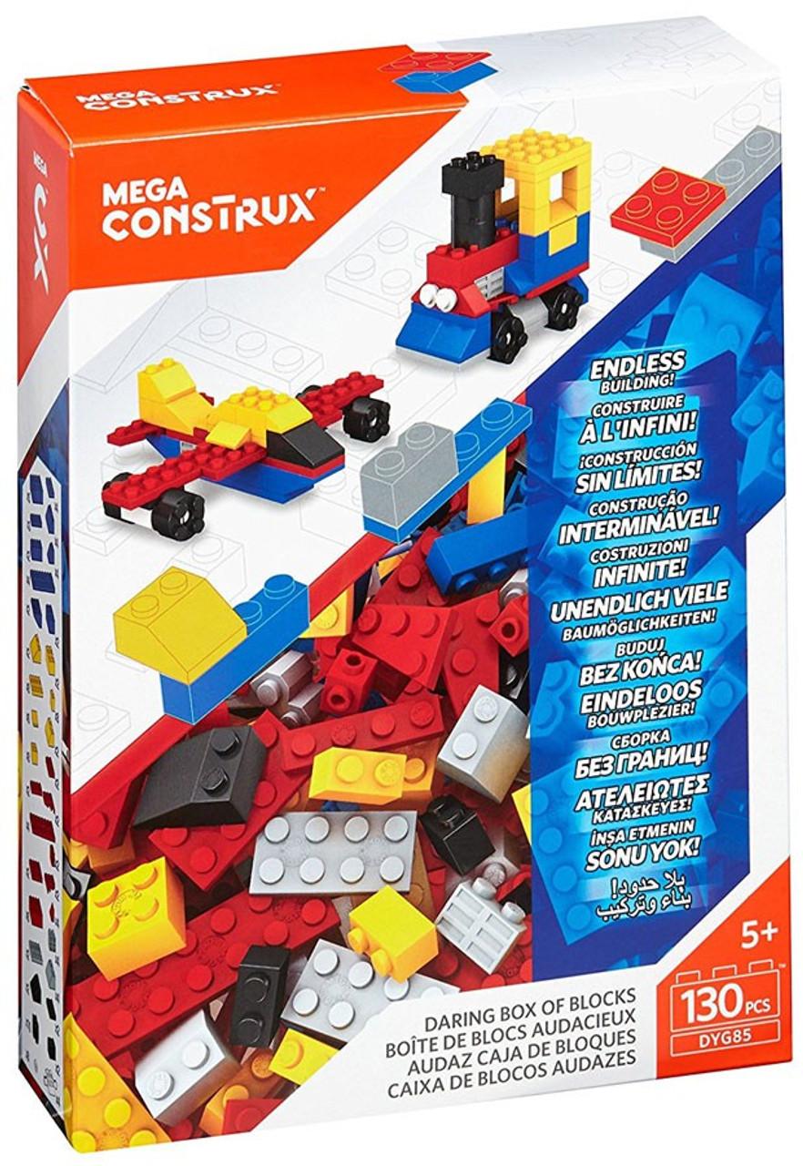 Mega Construx Blocks Endless Building Vibrant Box Of Blocks 130 Pcs DYG86