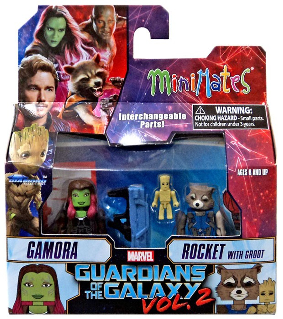 2 Movie Gamora Marvel Minimates Series 71 Guardians of the Galaxy Vol