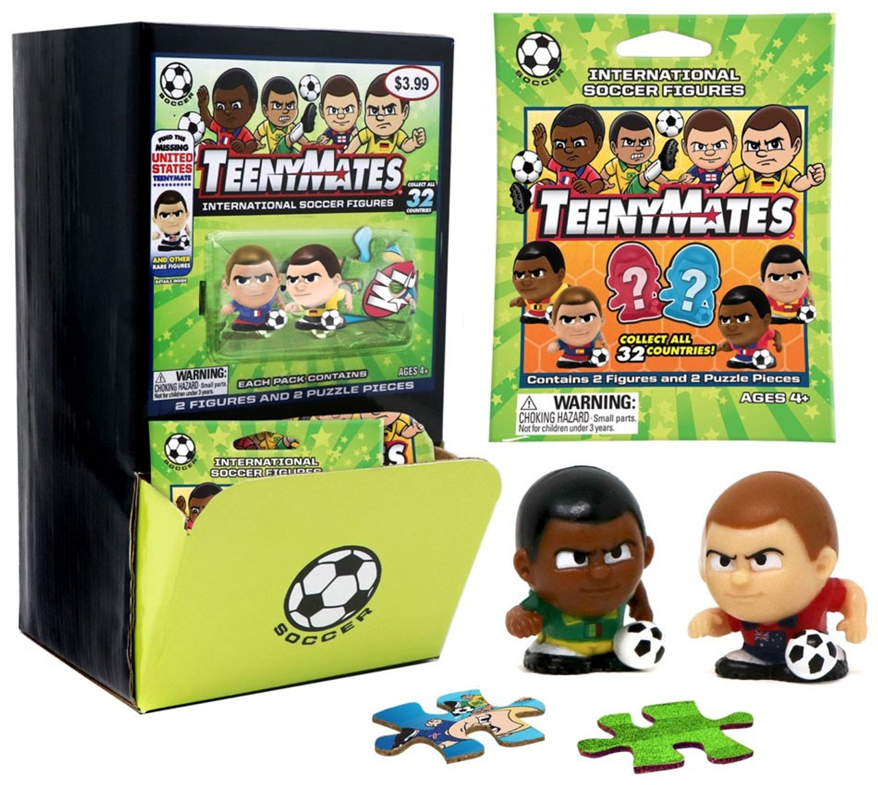 TeenyMates Collectible WWE 35 Piece Complete Double Sided Puzzle