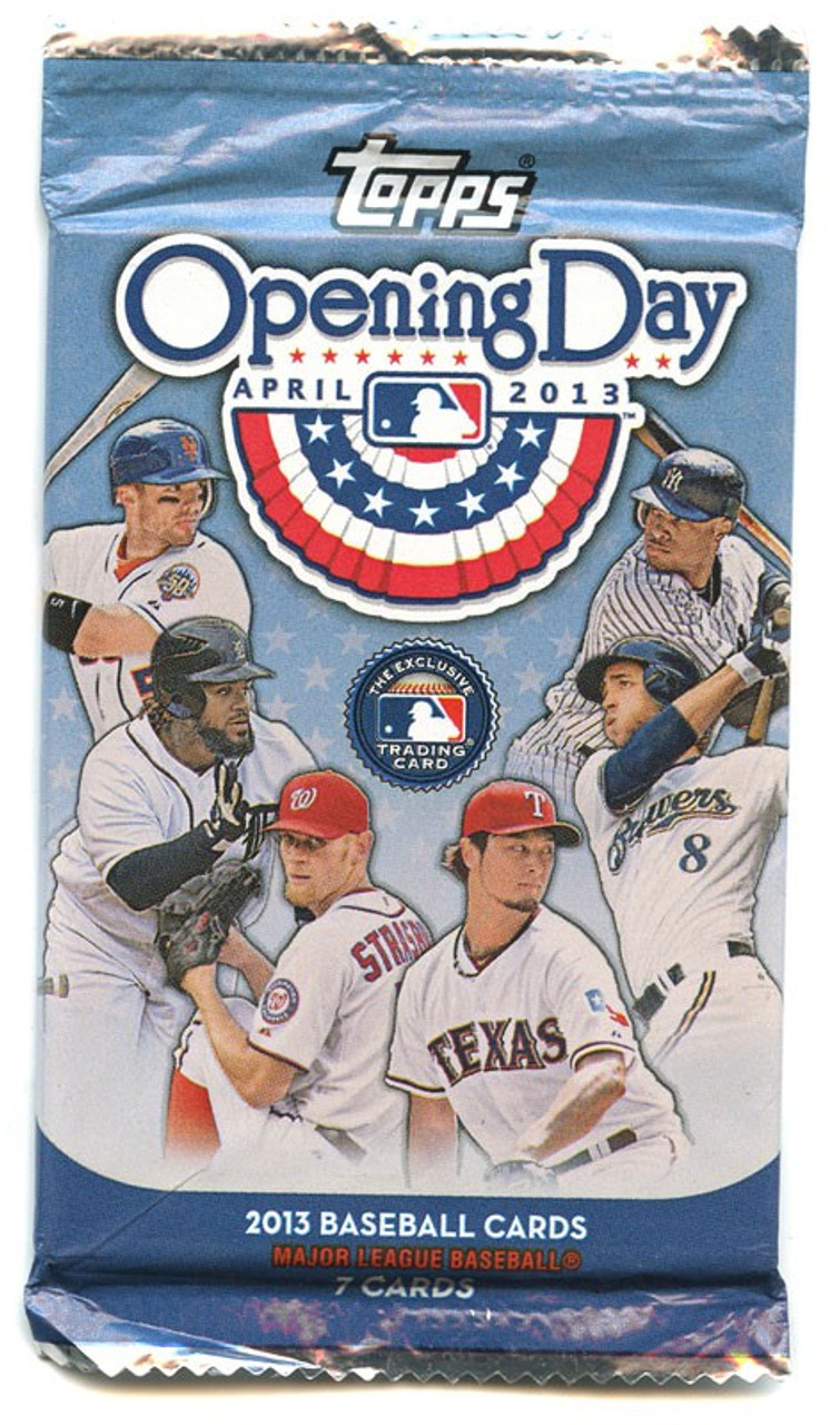 Mlb 2013 Topps Baseball Cards 2013 Opening Day Trading Card Pack