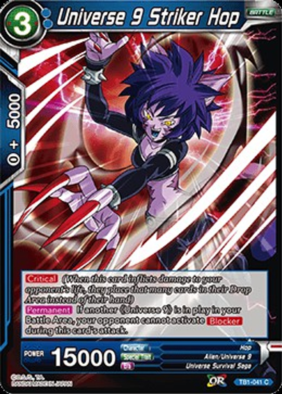 Dragon Ball Super Collectible Card Game Tournament Of Power Common Universe 9 Striker Hop Tb1 041