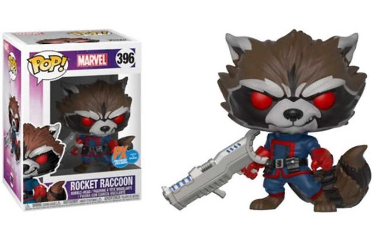 Marvel Guardians of the Galaxy Funko POP! Marvel Rocket Raccoon Exclusive  Vinyl Bobble Head #396 [Classic Comic Version]