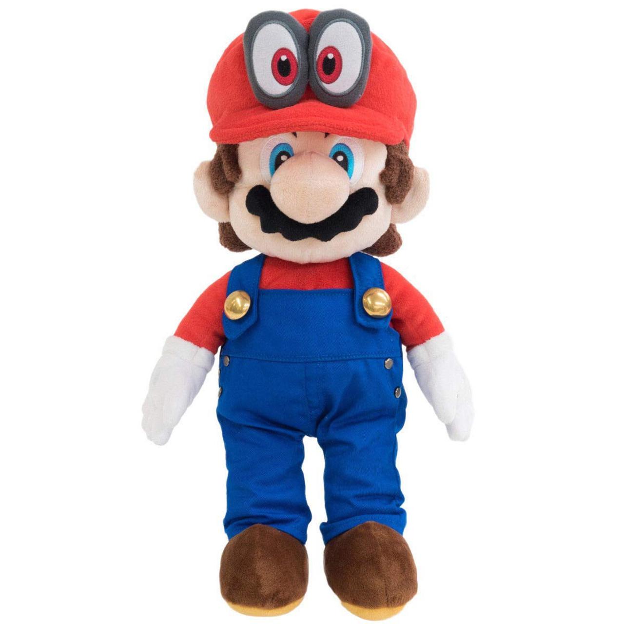 c41b8aaf1f1 Super Mario Bros Mario Odyssey 16 Plush Removable Hat San-Ei - ToyWiz