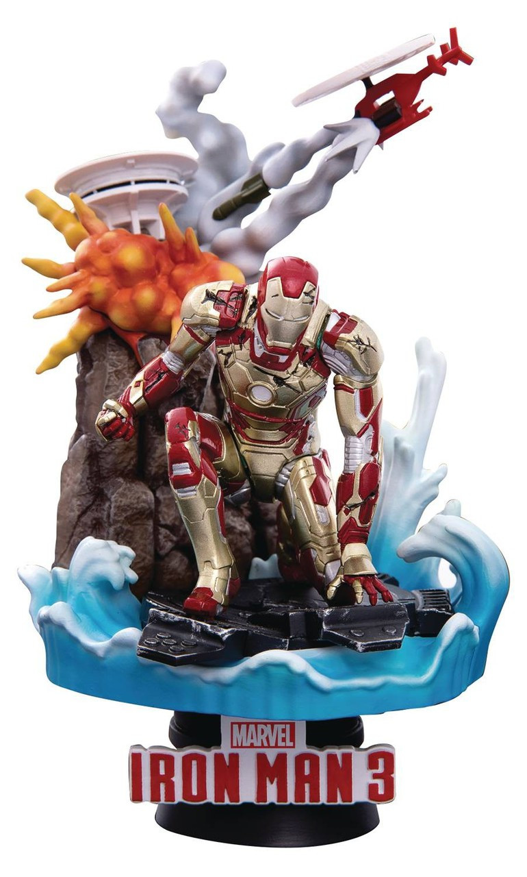49d76a618 Marvel Iron Man 3 D-Select Iron Man Mk 42 Exclusive 6 Action Figure ...