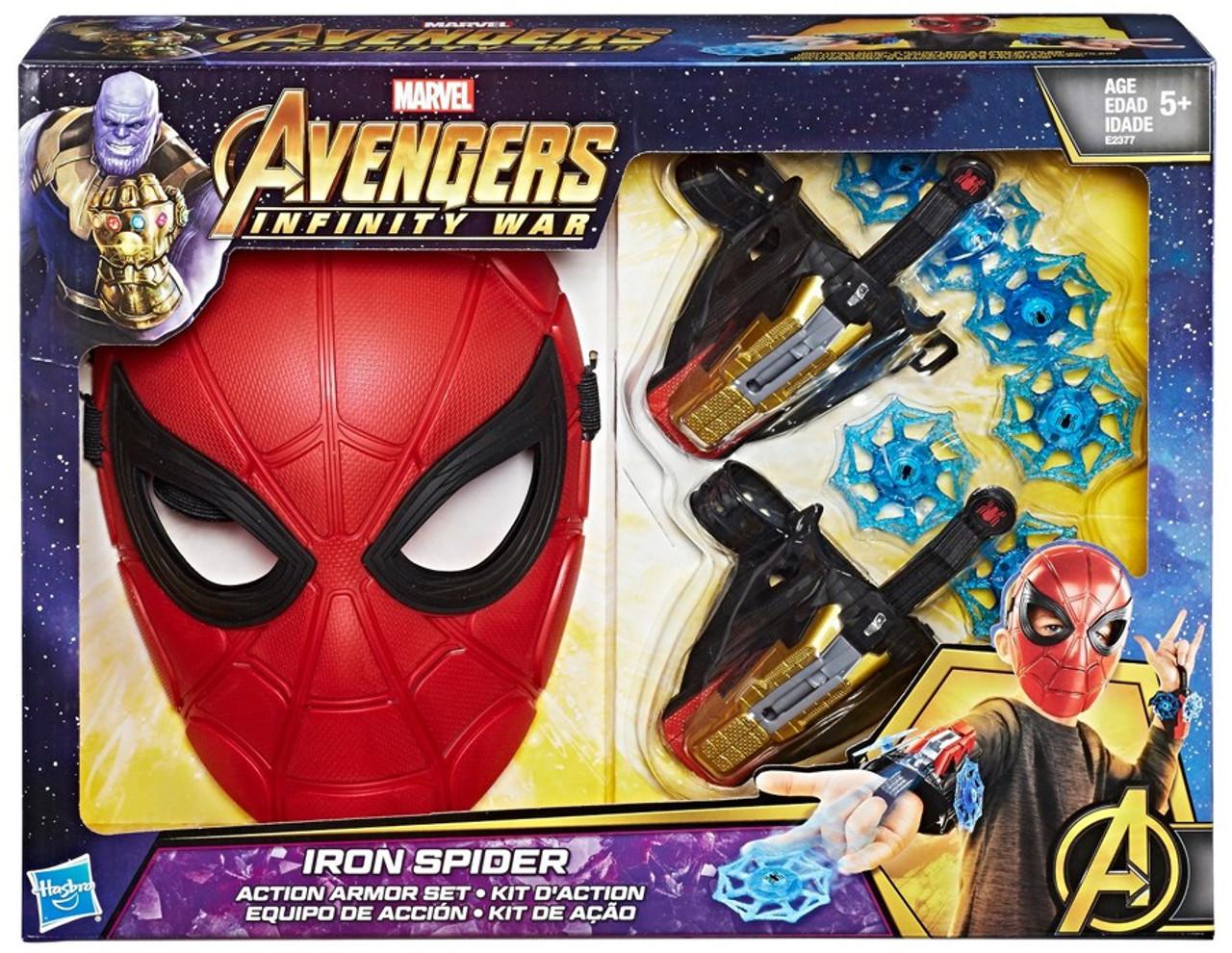 Marvel Avengers Infinity War Iron Spider Action Armor Set Exclusive Hasbro Toys Toywiz