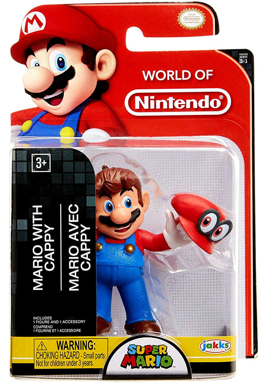 World of Nintendo Super Mario Cappy Mario 2 5-Inch Mini Figure