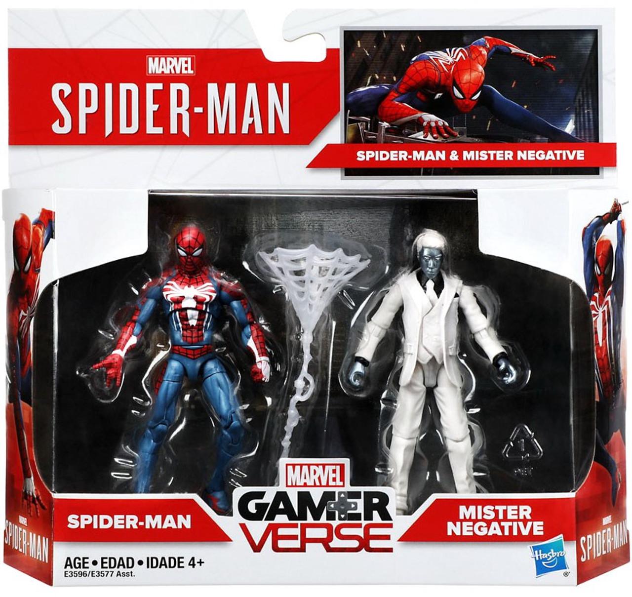 Marvel Gamerverse Spider-Man /& Mister Negative Exclusive Action Figure 2-Pack
