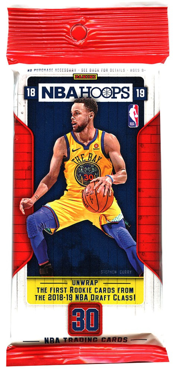 Nba 2018 19 Hoops Basketball Trading Card Fat Pack Panini