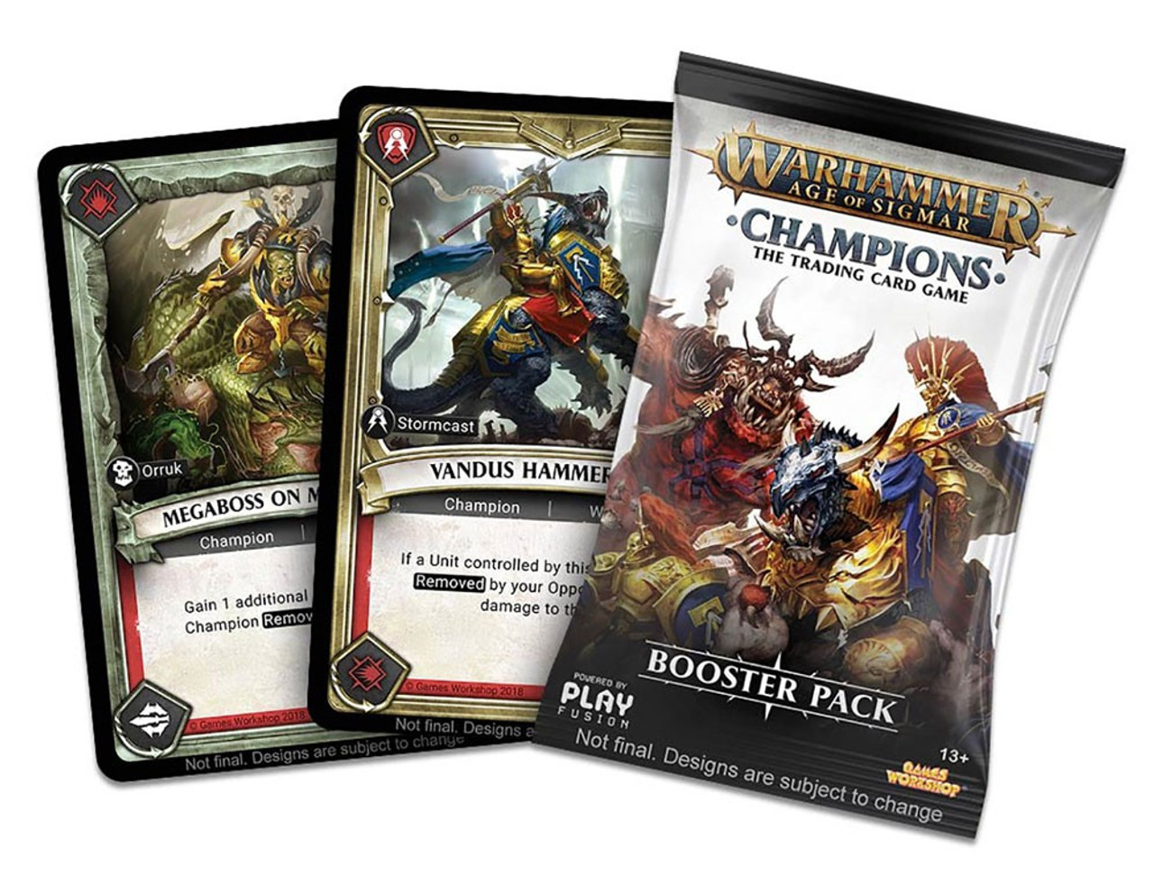 Warhammer Age of Sigmar Champions Trading Card Game Booster Box [24 Packs]