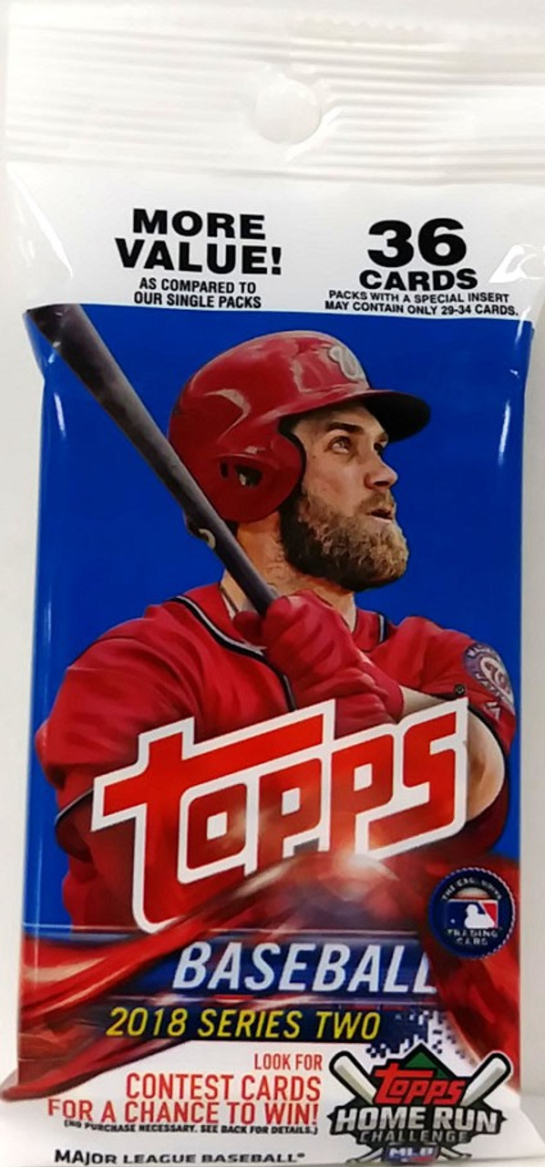 Mlb 2018 Baseball Series 2 Trading Card Value Pack