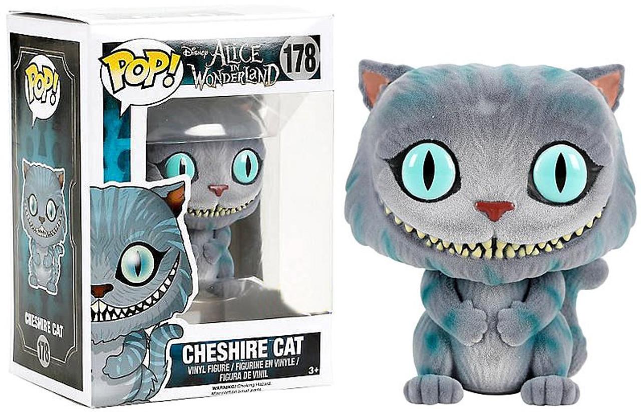 1cc424e7c28 Funko Disney Alice in Wonderland Funko POP Disney Cheshire Cat Exclusive Vinyl  Figure 178 Flocked