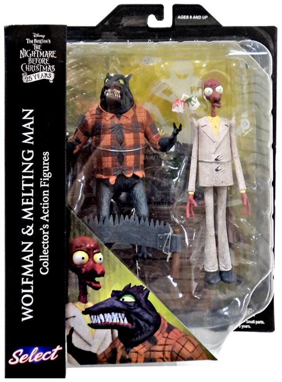 Картинки по запросу The Nightmare Before Christmas Select Series 5 wolfman and melting man figure