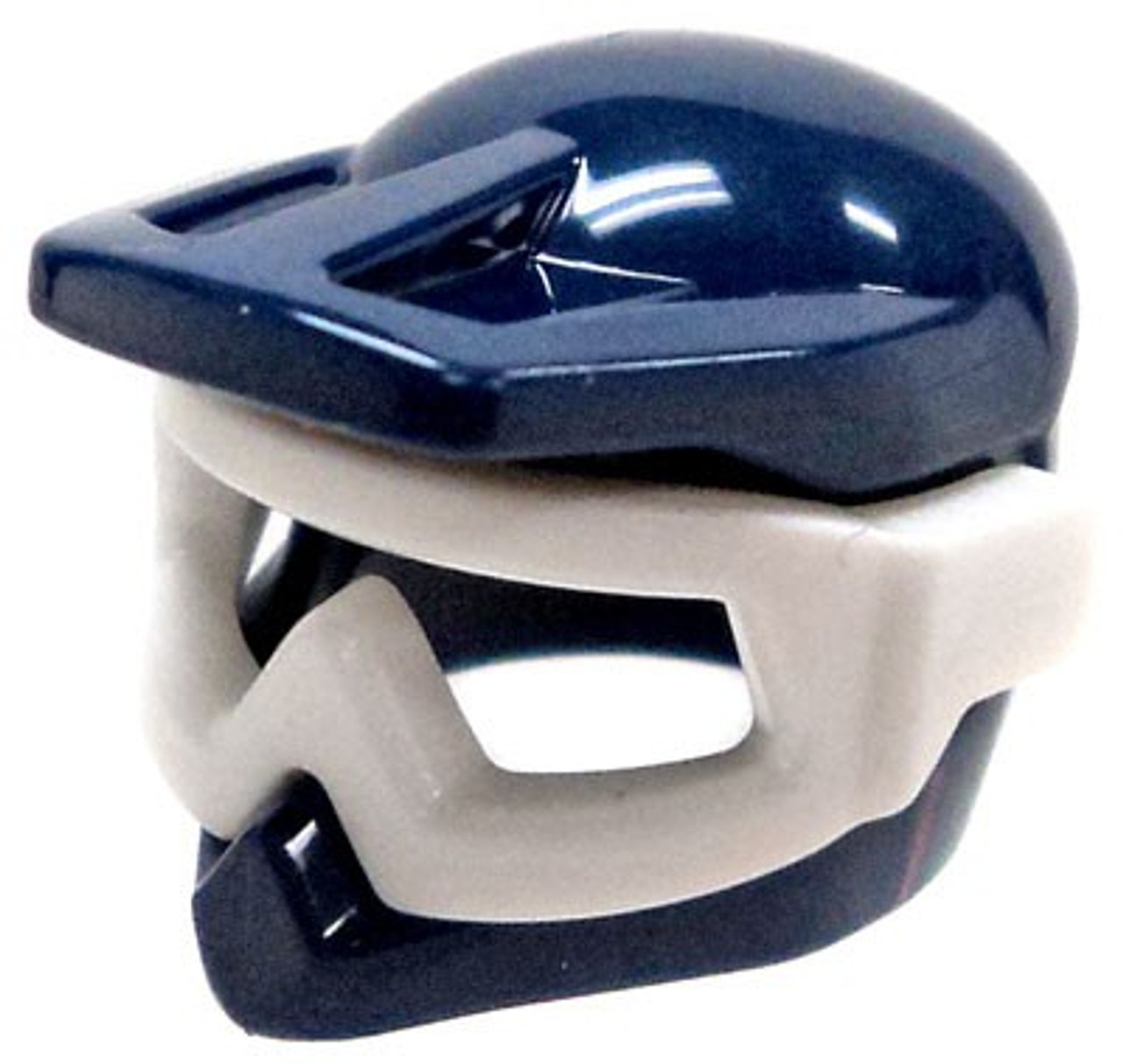 a19c296d LEGO Headgear Dark Blue Dirt Bike Helmet with Goggles Loose - ToyWiz