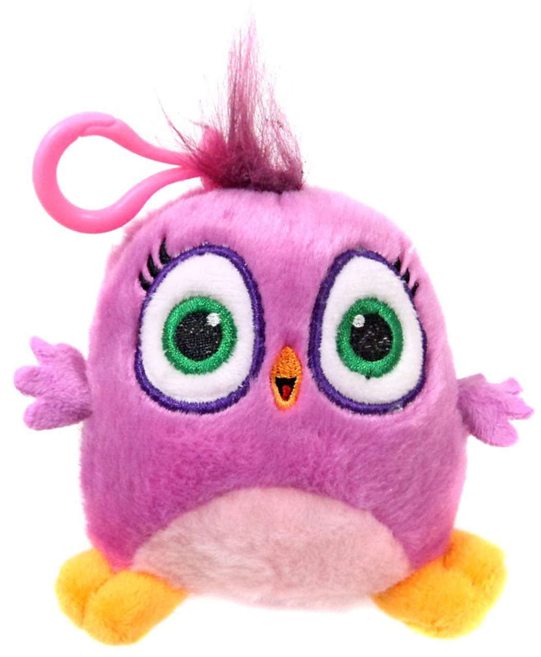 """ANGRY BIRDS HATCHLINGS 4/"""" PLUSH PINK /& PURPLE NEW WITH TAG"""