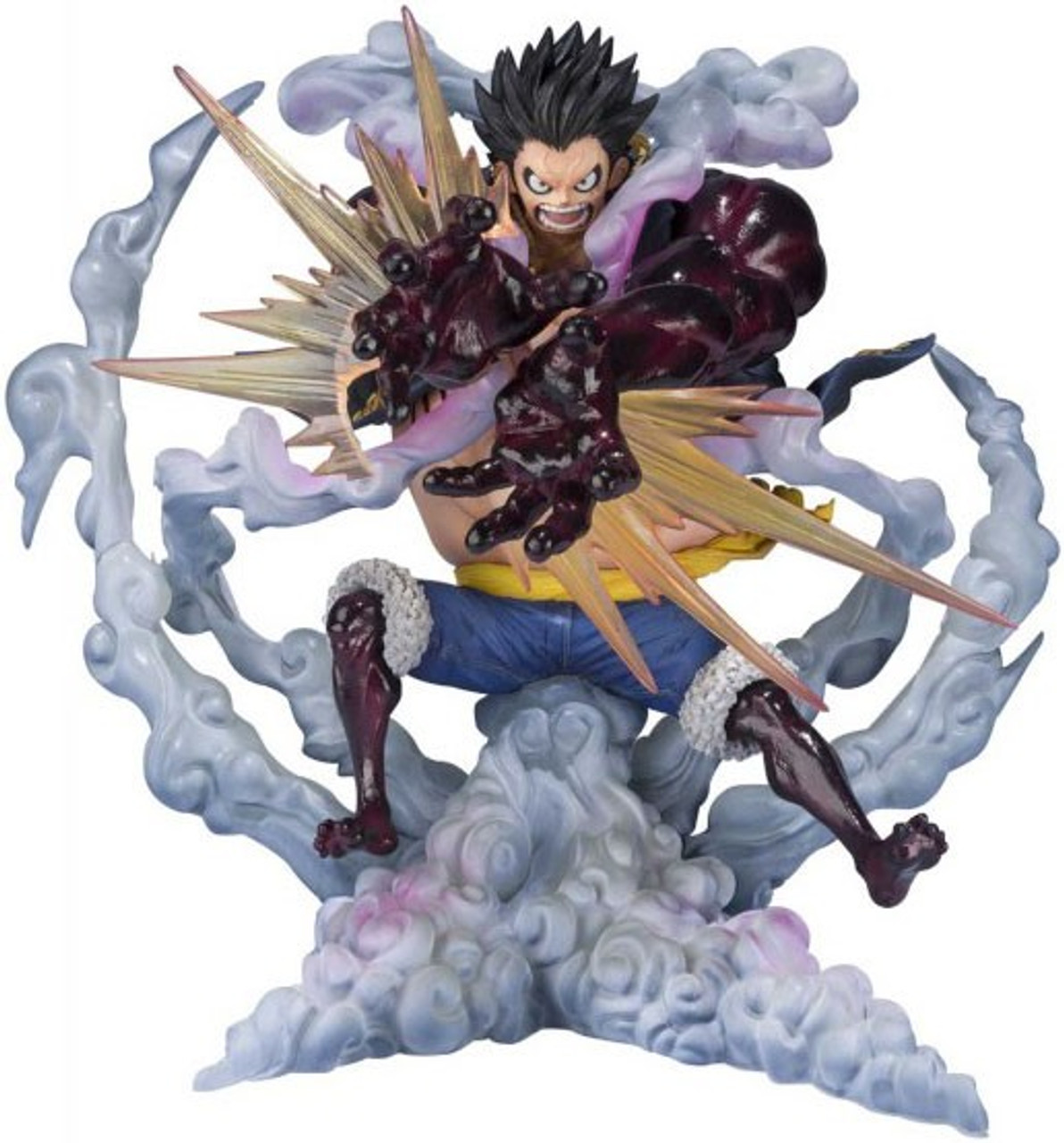 One Piece Figuarts Zero Monkey D Luffy 7 1 Inch Statue Gear 4 Leo Bazooka