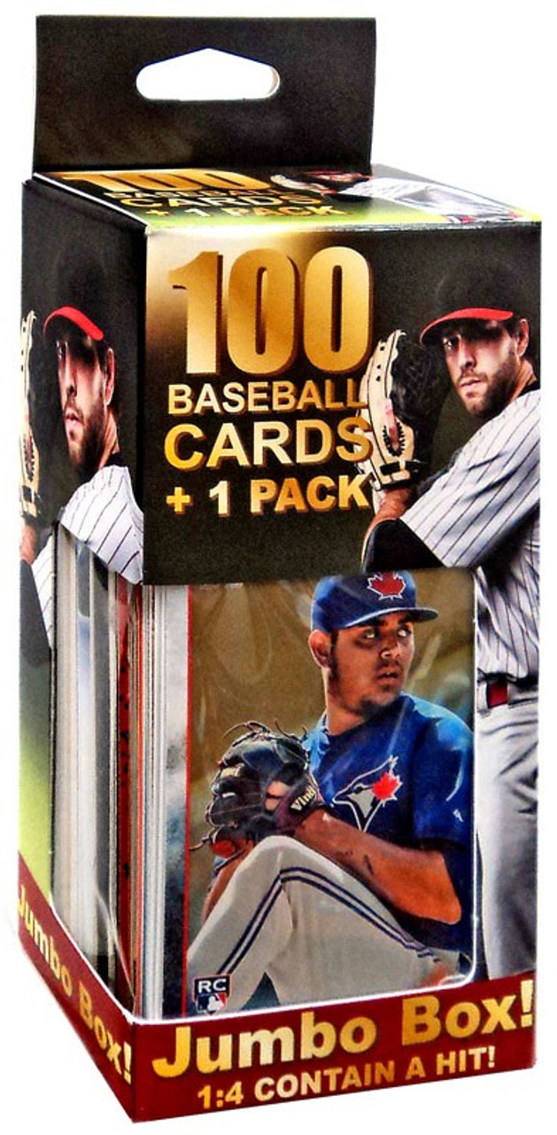 Fairfield 100 Baseball Cards 1 Pack Trading Card Jumbo Box