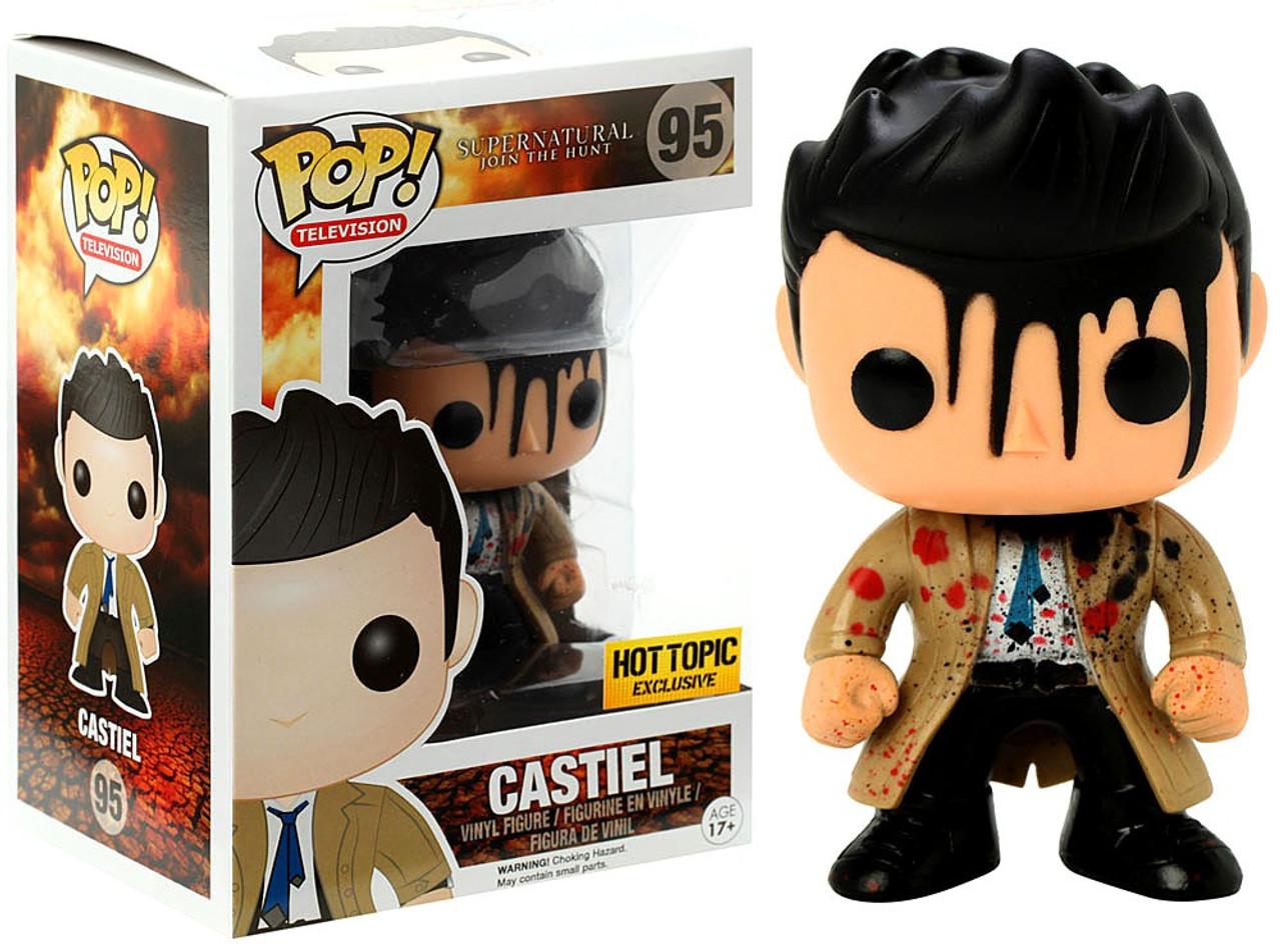 Funko Pop Supernatural Castiel Action Figure With Wing Vinyl Evil Power Kid Toys