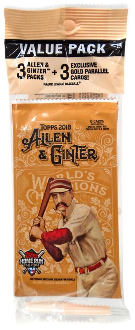 Mlb 2018 Topps Allen Ginter Baseball Cards 2018 Topps Allen Ginter Trading Card Value Pack