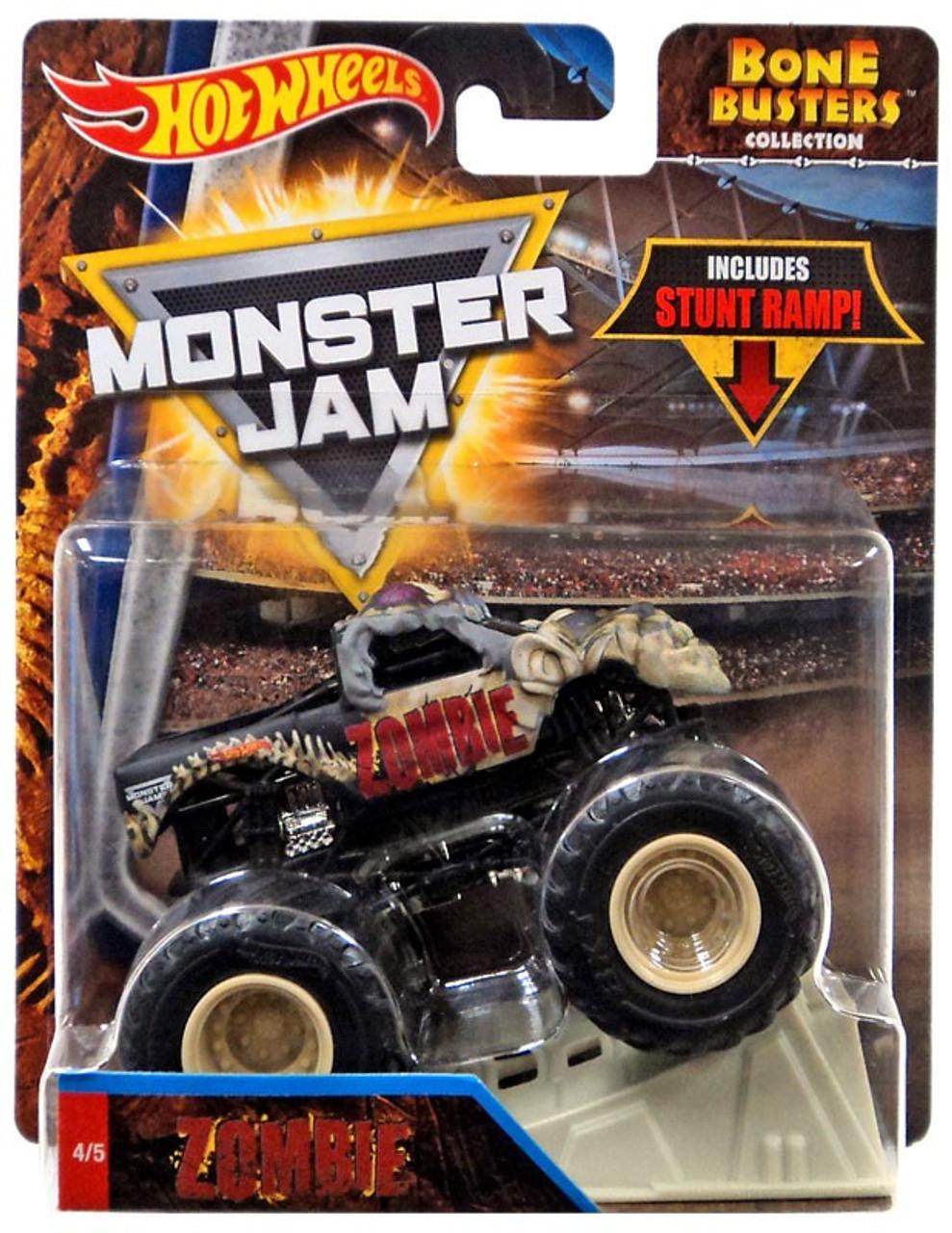Hot Wheels Monster Jam Bone Busters Zombie 164 Die Cast Car Mattel Toys Toywiz