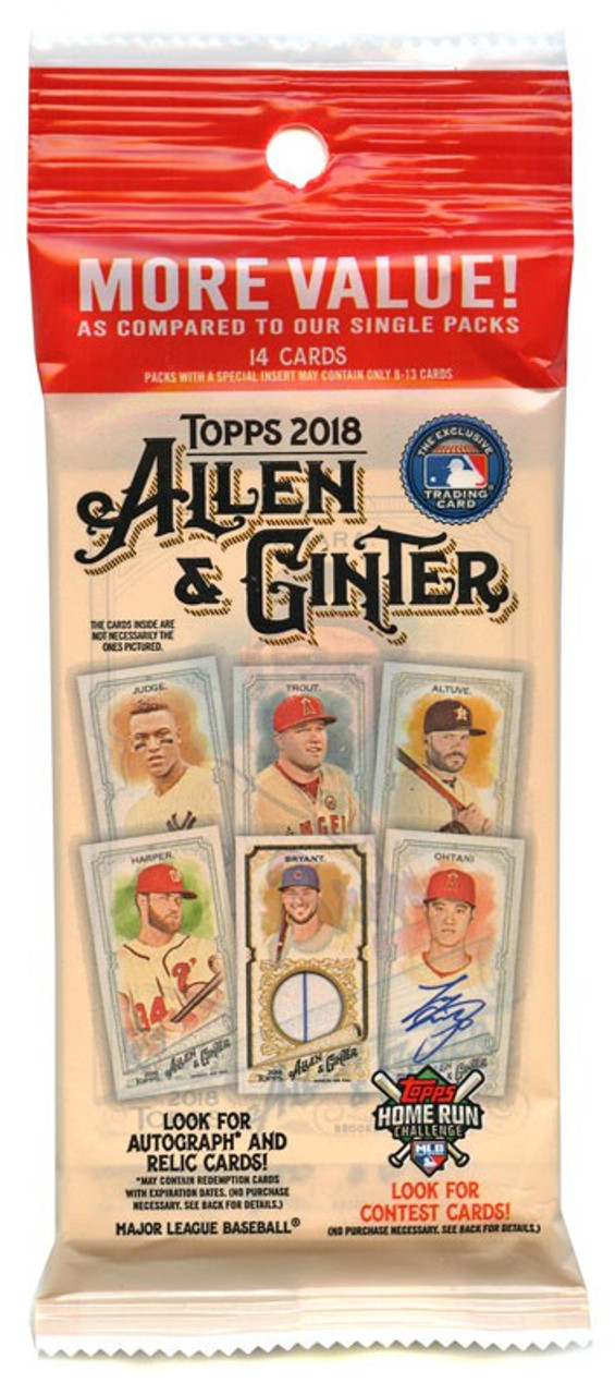 Mlb 2018 Topps Allen Ginter Baseball Cards 2018 Topps Allen Ginter Trading Card Fat Pack