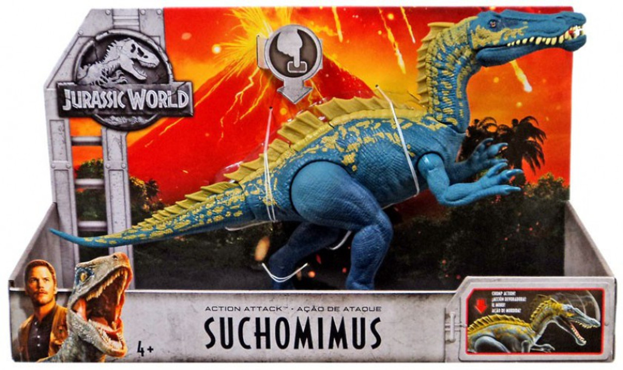 Fallen Kingdom Action Attack Figure Jurassic World Suchomimus