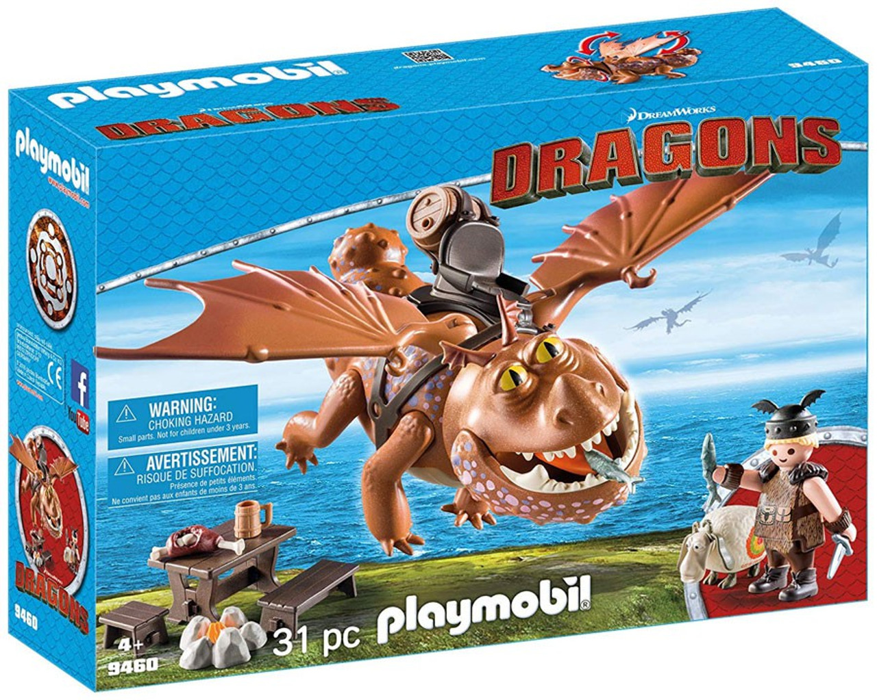 Playmobil Dragons Gobber the Belch with Sheep Sling 9461 NEW