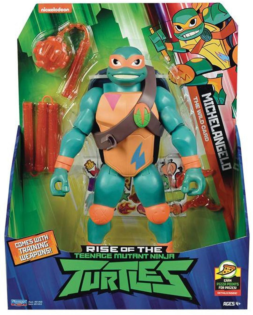 Teenage Mutant Ninja Turtles Nickelodeon Rise of the TMNT Michelangelo  Giant Action Figure [Kusari-Fundo & Throwing Stars]