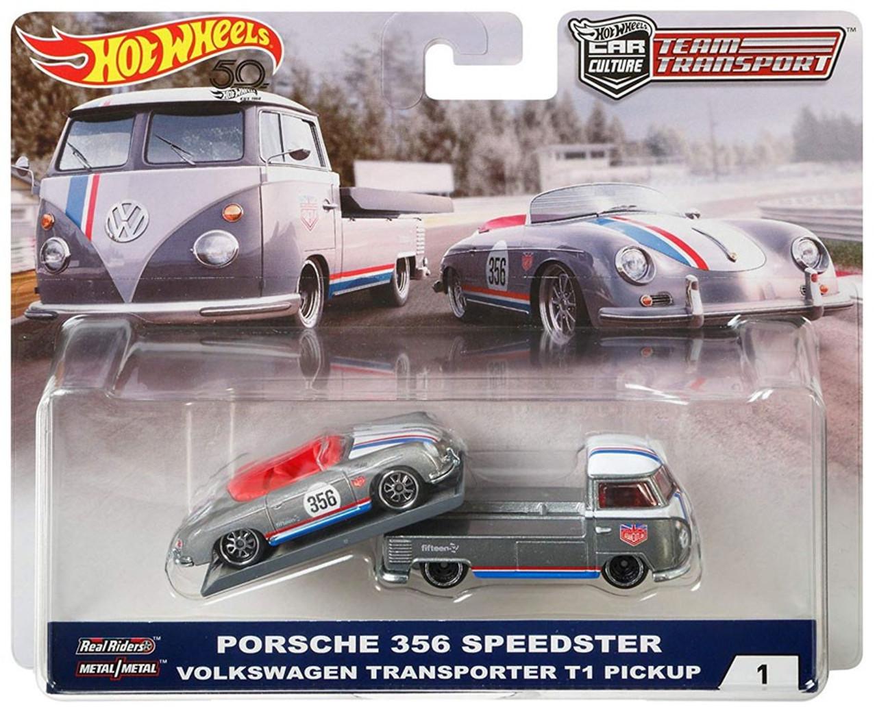 1//64 Hot Wheels Team Transport Porsche 356 Speedster VW T1 Pickup