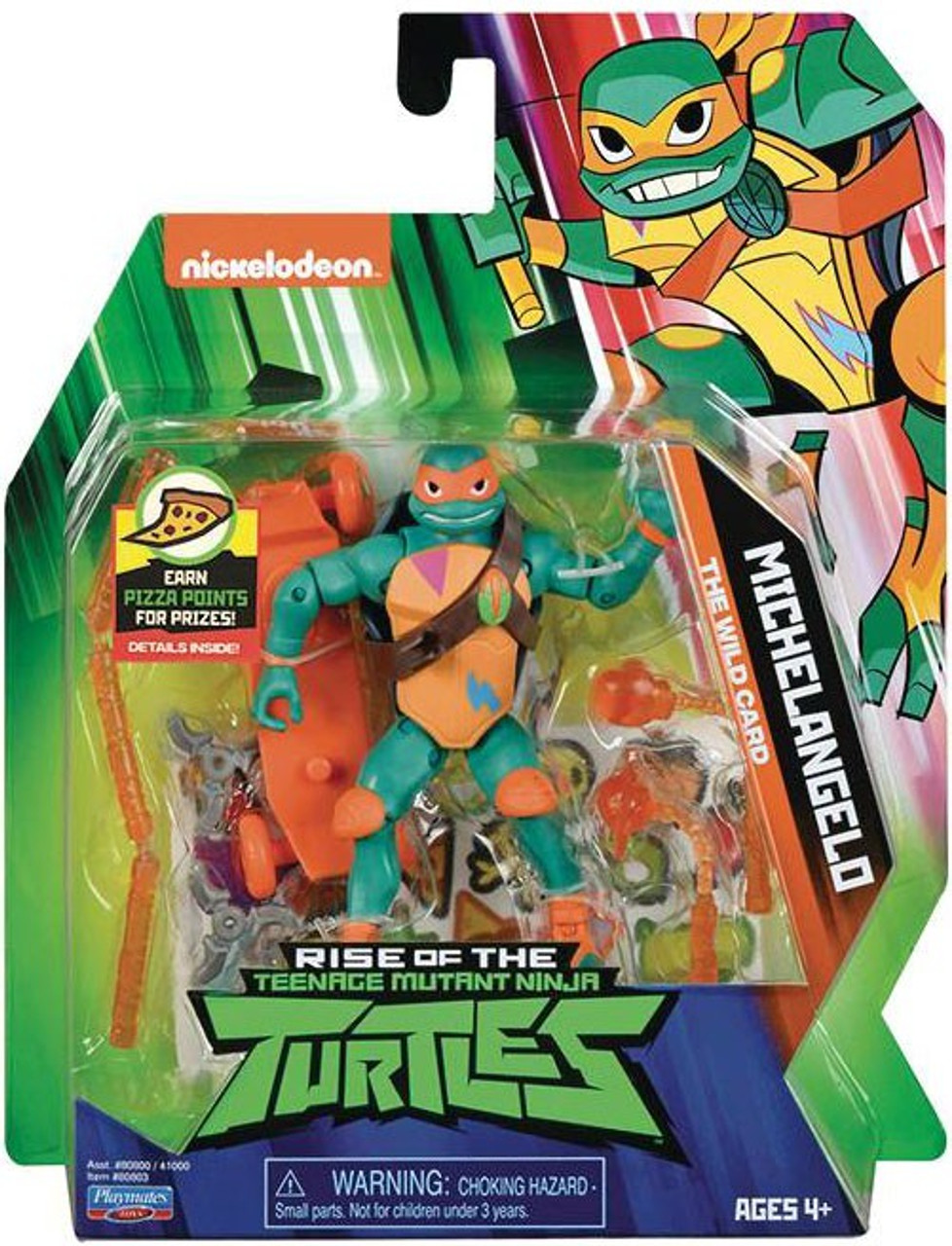 Teenage Mutant Ninja Turtles Nickelodeon Rise of the TMNT Michelangelo  Action Figure [The Wild Card]