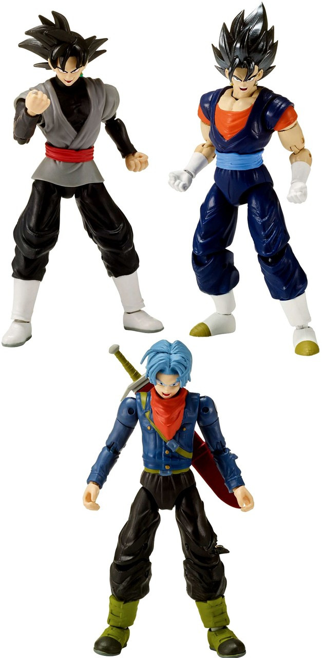 Dragon Ball Super Dragon Stars Series 8 Future Trunks Vegito Goku Black Set Of 3 Action Figures Broly Build A Figure Pre Order Ships September