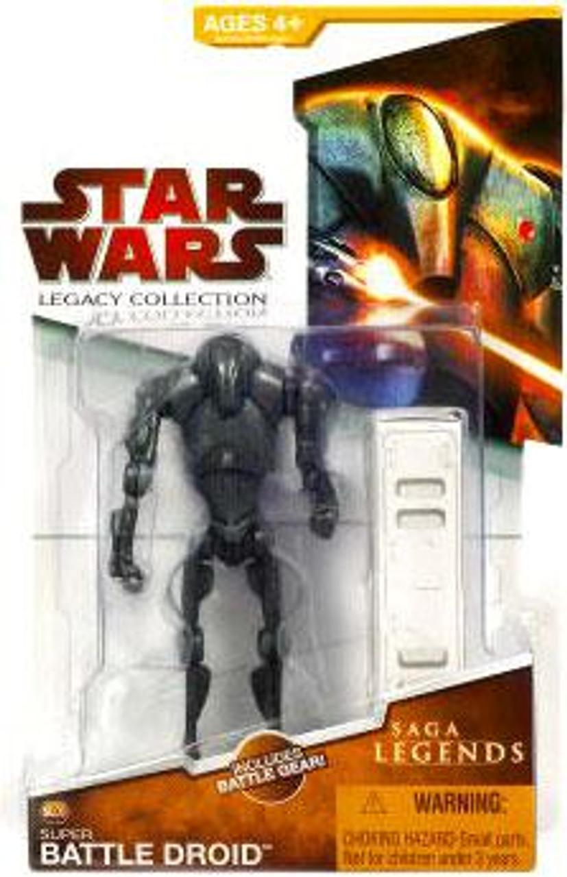 Star Wars 3.75  Clone Wars Super Battle Droid Variant
