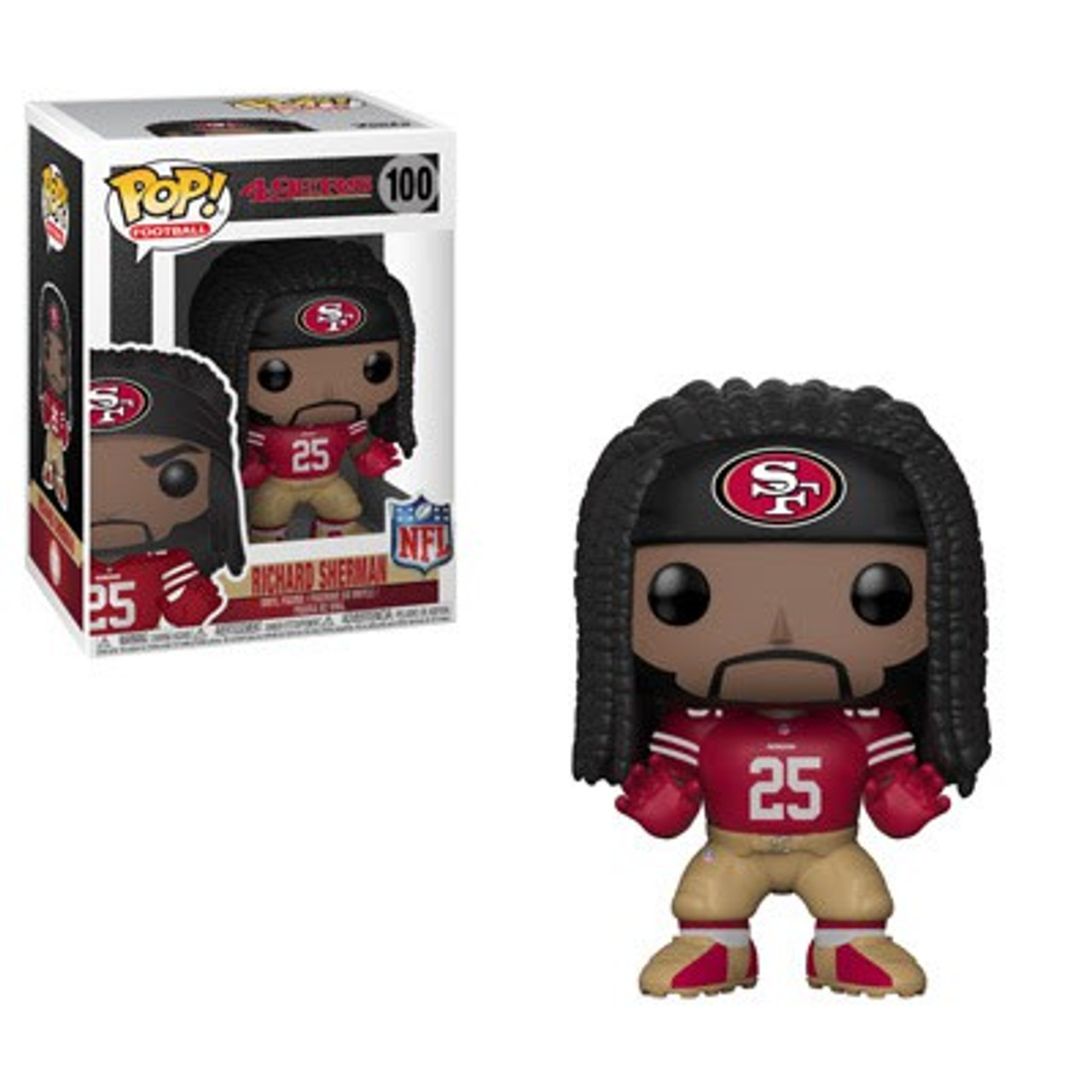 los angeles 3ef54 1387d NFL San Francisco 49ers Funko POP! Sports Richard Sherman Vinyl Figure #100  [Red Jersey]