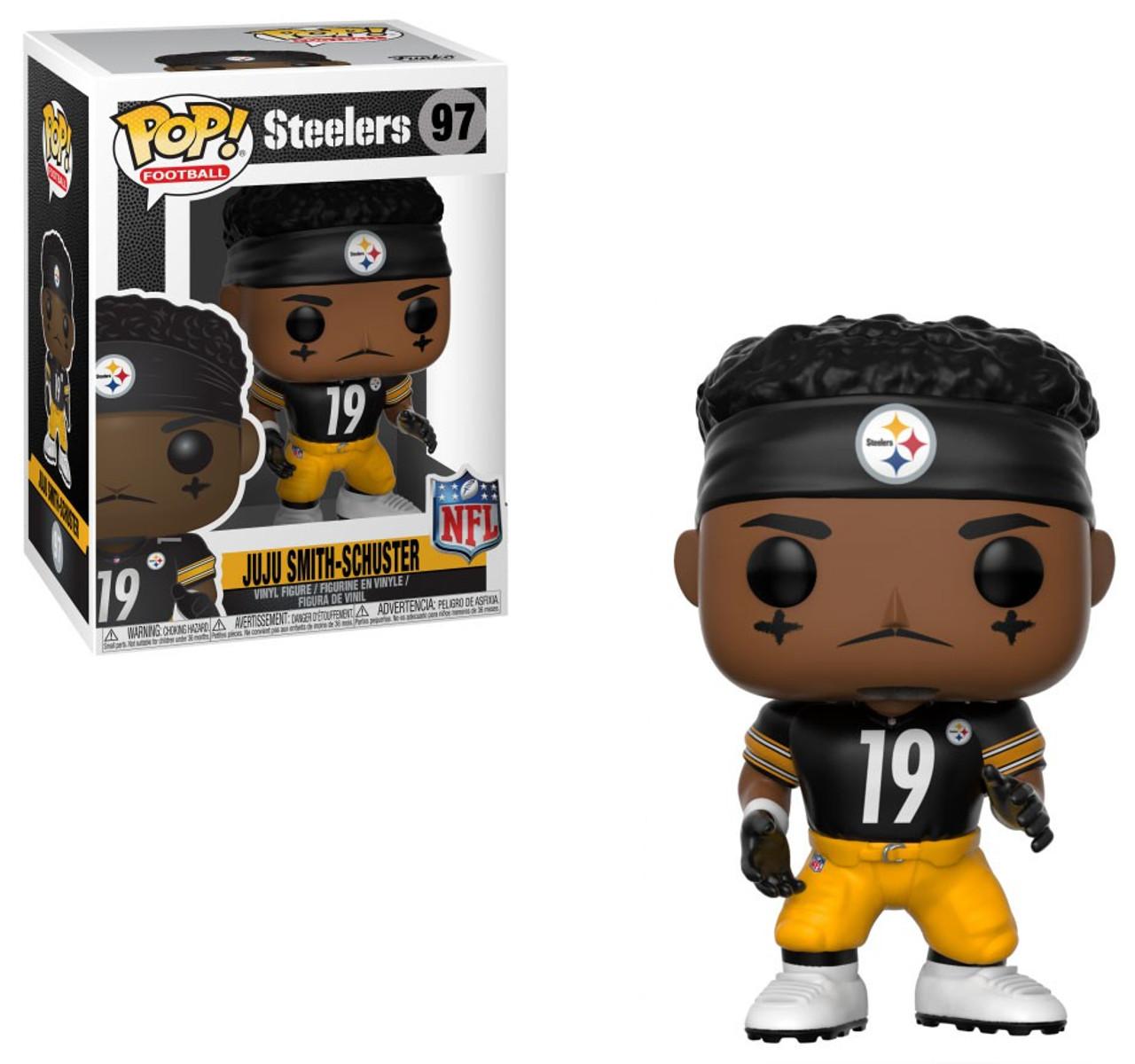 c3c1127b773 Funko NFL Pittsburgh Steelers Funko POP Sports Ju Ju Smith Schuster Vinyl  Figure 97 Black Jersey - ToyWiz