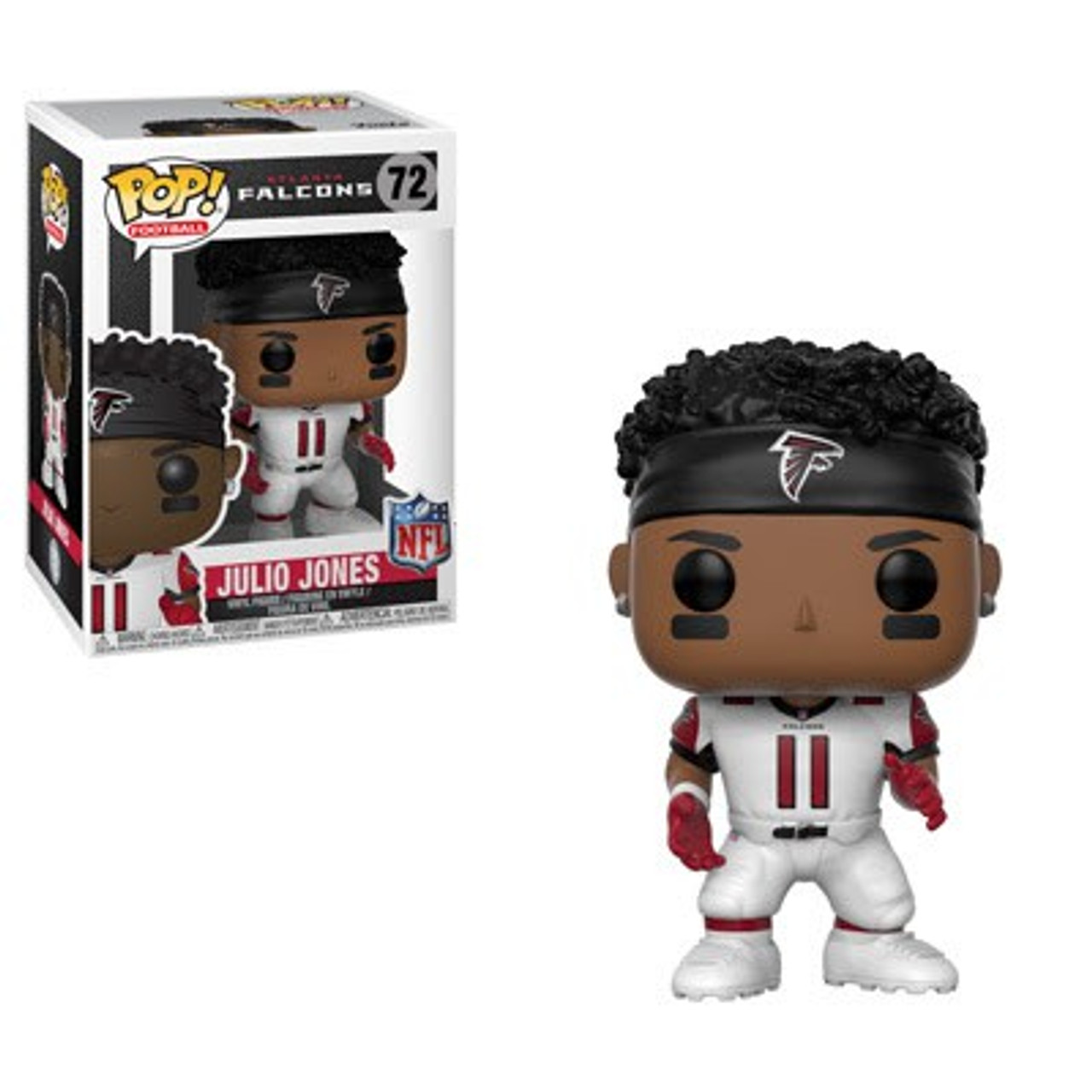 timeless design ff78b 9053b NFL Atlanta Falcons Funko POP! Sports Julio Jones Vinyl Figure #72 [White  Jersey]