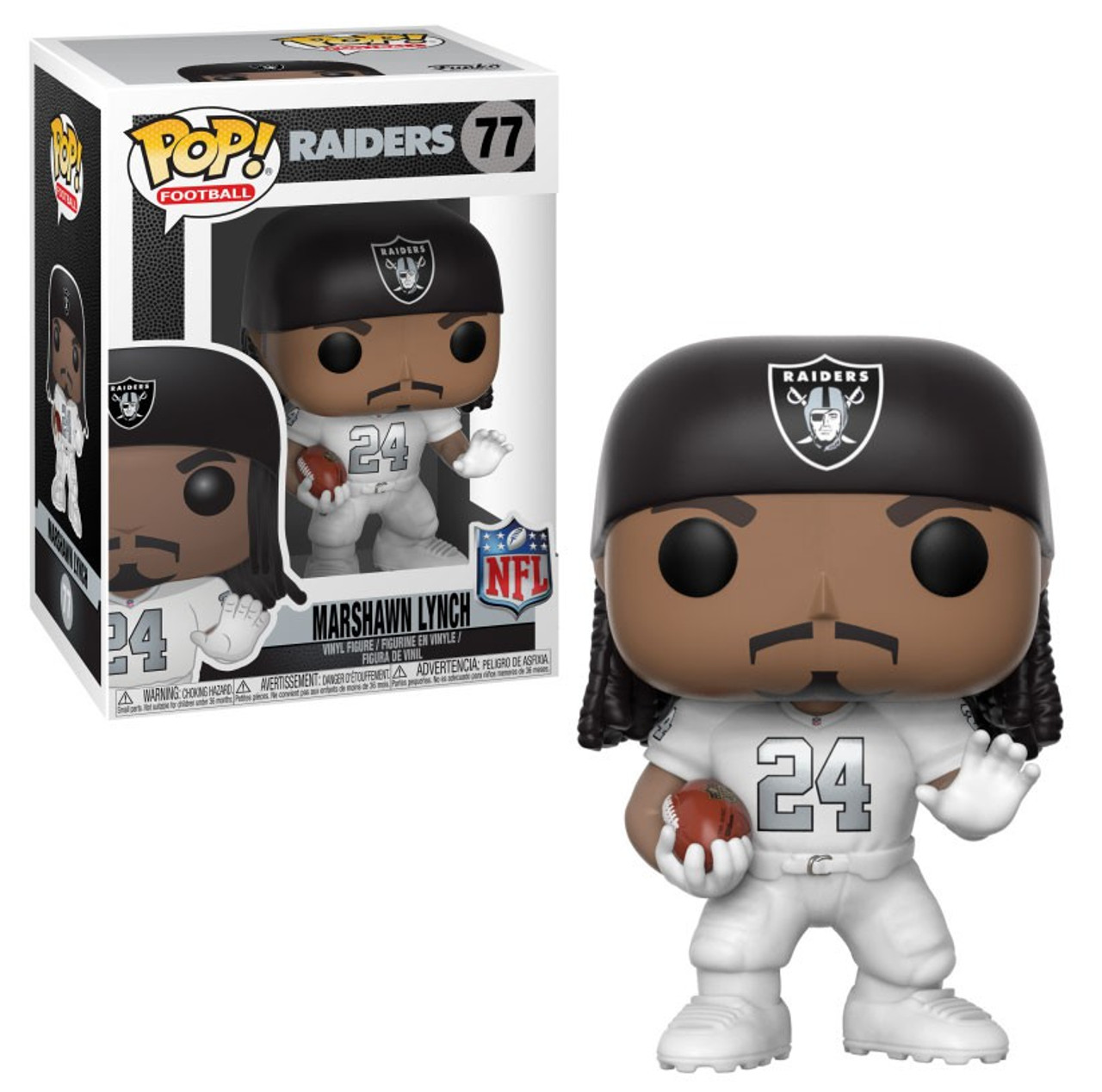 Funko NFL Oakland Raiders Funko POP Sports Marshawn Lynch Vinyl Figure 77 Color  Rush - ToyWiz fe7d43edf