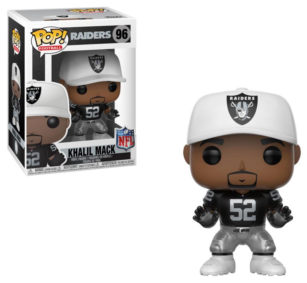 66f8dd9d1dc Funko NFL Oakland Raiders Funko POP Sports Khalil Mack Vinyl Figure 96  Black Jersey - ToyWiz