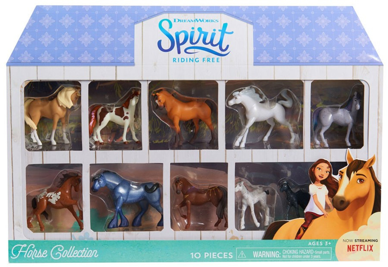 spirit riding free horse collection mini figure 10 pack