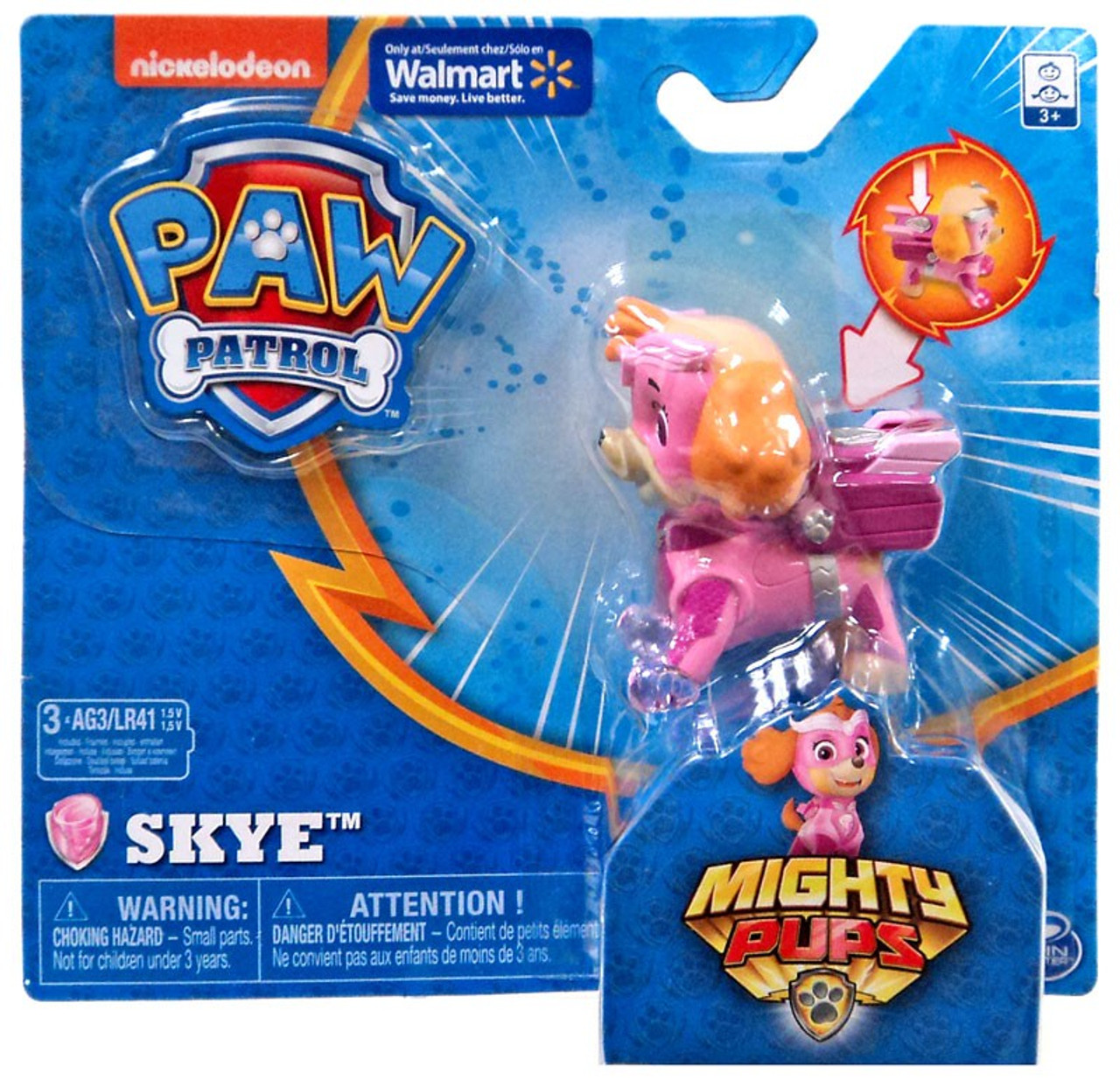 Paw Patrol Mighty Pups Skye Exclusive Figure [Light-up Badge & Paws]