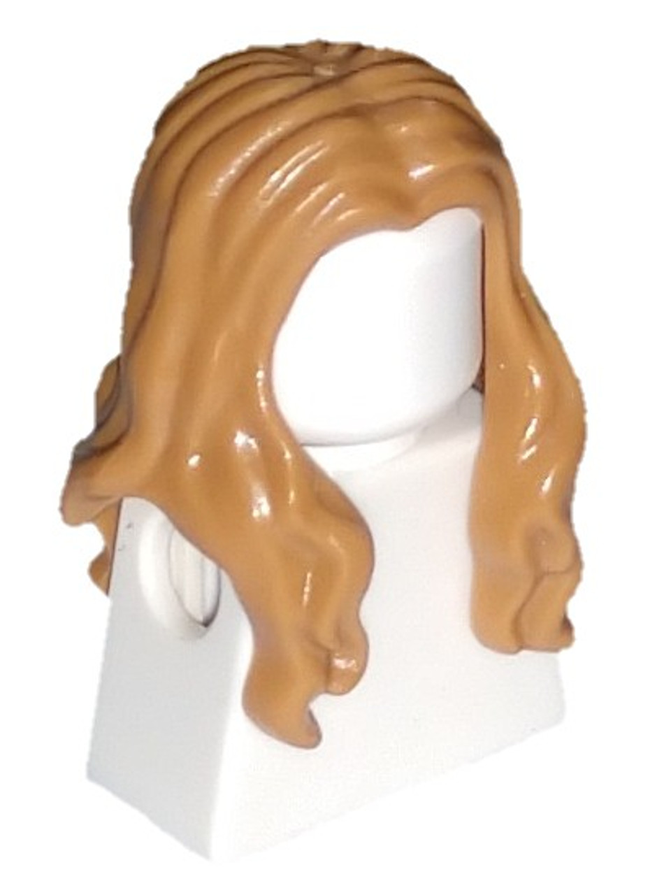 Lego Hair Long Wavy with Center Part x 1 Black for Minifigure